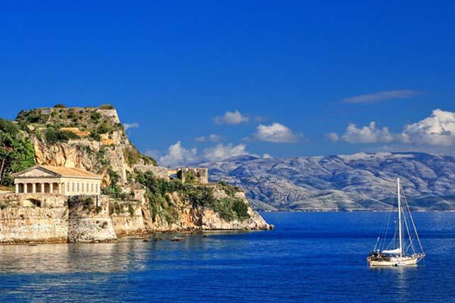 Látkép Korfu