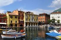 Kikötő Malcesine Garda tó Olaszország