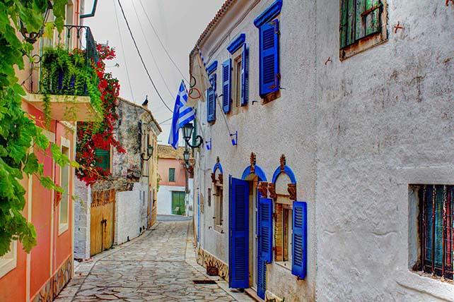 Lakones utcarészlet Korfu