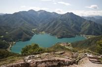Ledro tó Garda tó Olaszország