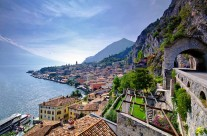 Limone sul Garda látkép Garda tó Olaszország
