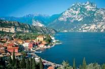 Riva del Garda látkép Olaszország