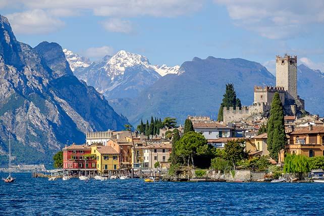 Malcesine vár Garda tó Olaszország