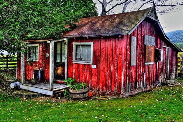 Szent Olaf útja falusi ház