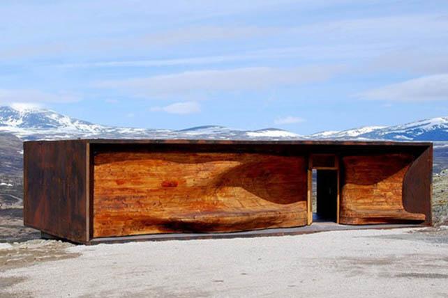 Szent Olaf útja Hjerkinn rénszarvas pavilon