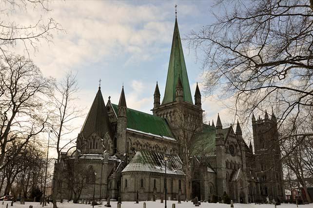 Szent Olaf útja Trondheim Nidaros katedrális
