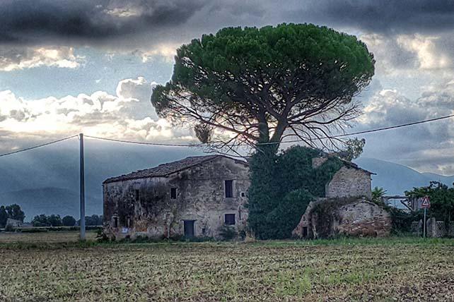 Zarándokút via Francigena di San Francesco Montefalco előtt Olaszország
