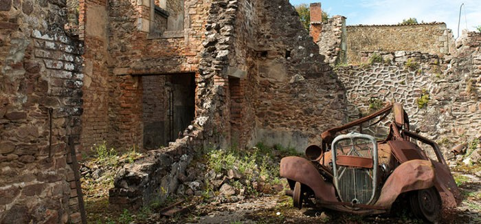 ourador-sur-glane-szellemvaros-in-limousin-france-was-abandoned-during-world-war-two